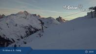 Archiv Foto Webcam St. Anton - Galzig Bergstation 04:00