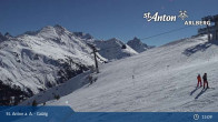 Archiv Foto Webcam St. Anton - Galzig Bergstation 14:00