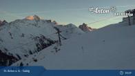 Archiv Foto Webcam St. Anton - Galzig Bergstation 18:00