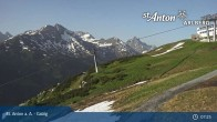 Archived image Webcam Galzig Top Station - St. Anton 23:00