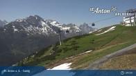 Archived image Webcam Galzig Top Station - St. Anton 01:00