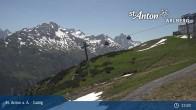 Archived image Webcam Galzig Top Station - St. Anton 05:00