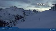 Archiv Foto Webcam St. Anton - Galzig Bergstation 23:00