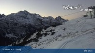 Archiv Foto Webcam St. Anton - Galzig Bergstation 01:00