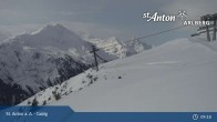 Archiv Foto Webcam St. Anton - Galzig Bergstation 08:00