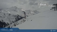 Archiv Foto Webcam St. Anton - Galzig Bergstation 12:00