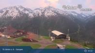 Archived image Webcam Mountain Restaurant Gampen / Top Station Gampenbahn 00:00