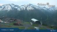 Archived image Webcam Mountain Restaurant Gampen / Top Station Gampenbahn 02:00