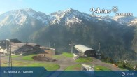 Archived image Webcam Mountain Restaurant Gampen / Top Station Gampenbahn 04:00