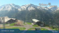 Archived image Webcam Mountain Restaurant Gampen / Top Station Gampenbahn 06:00