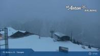 Archived image Webcam Mountain Restaurant Gampen / Top Station Gampenbahn 19:00