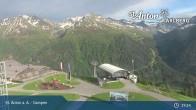 Archived image Webcam Mountain Restaurant Gampen / Top Station Gampenbahn 13:00