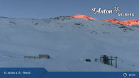 Archived image Webcam St. Anton: Rendl Mountain Restaurant 04:00