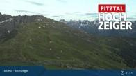 Archiv Foto Webcam Hochzeiger: Blick vom Sechszeiger Jerzens 19:00