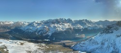 Archived image Webcam St. Moritz / Top Station Piz Nair 08:00