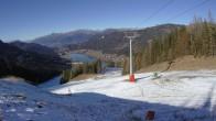 Archiv Foto Webcam Skigebiet Weissensee - Bergstation 06:00