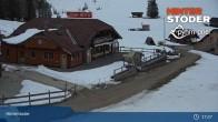 Archiv Foto Webcam Hinterstoder: Hössbahn Bergstation 19:00