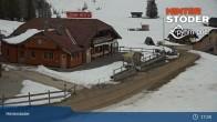 Archiv Foto Webcam Hinterstoder: Hössbahn Bergstation 13:00