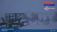 Archiv Foto Webcam Hinterstoder: Höss-Express Bergstation 19:00