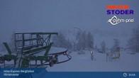 Archiv Foto Webcam Hinterstoder: Höss-Express Bergstation 23:00