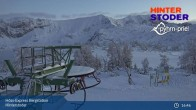 Archiv Foto Webcam Hinterstoder: Höss-Express Bergstation 13:00