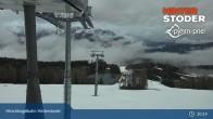 Archiv Foto Webcam Hinterstoder: Bergstation Hirschkogelbahn 19:00