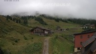 Archived image Webcam Planneralm: View Tauern House 08:00