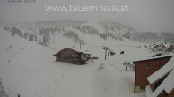 Archived image Webcam Planneralm: View Tauern House 04:00