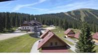 "Archived image Webcam View Huts of ski resort ""Weinebene"" 04:00"