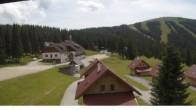 "Archived image Webcam View Huts of ski resort ""Weinebene"" 08:00"