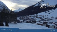 Archiv Foto Webcam Oberlech am Arlberg: Blick vom Flühenlift 21:00