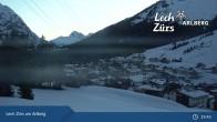 Archiv Foto Webcam Oberlech am Arlberg: Blick vom Flühenlift 23:00