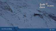 Archived image Webcam Trittkopf Top Station (Zürs) 21:00