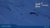 Archiv Foto Webcam Trittkopf Bergstation (Zürs) 21:00
