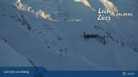 Archiv Foto Webcam Trittkopf Bergstation (Zürs) 01:00