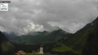 Archived image Webcam Damüls Ski Resort: View Base Station Oberdamüls 13:00