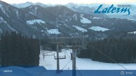 Archiv Foto Webcam Laterns - Bergstation Gapfohl 01:00