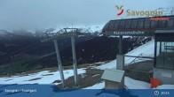 Archiv Foto Webcam Savognin, Bergstation Panoramabahn 19:00