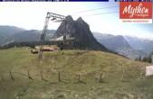 Archived image Webcam top station Brunni - Haggenegg 04:00