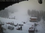Archived image Webcam La Fouly: Valley station and Auberge des Glaciers 02:00
