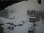 Archived image Webcam La Fouly: Valley station and Auberge des Glaciers 06:00