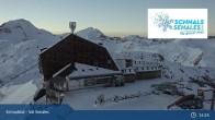 Archiv Foto Webcam Schnalstaler Gletscher: Bergstation Gletscherbahn 19:00
