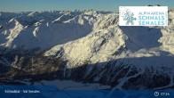 Archiv Foto Webcam Schnalstaler Gletscher: Bergstation Gletscherbahn 01:00