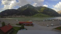 Archived image Webcam Schoeneben: Base station at lake Reschensee 12:00