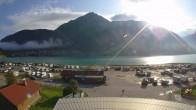 Archived image Webcam Schoeneben: Base station at lake Reschensee 02:00