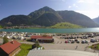 Archived image Webcam Schoeneben: Base station at lake Reschensee 04:00