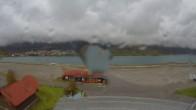 Archived image Webcam Schoeneben: Base station at lake Reschensee 10:00