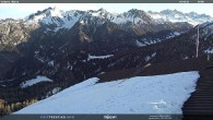Archiv Foto Webcam Mittelstation Alpe di Lusia Moena 02:00