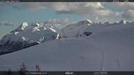 """Archiv Foto Webcam Fassatal - Moena - Ankunft des Sessellifts """"Campo de Cune"""" 10:00"""
