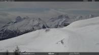 """Archiv Foto Webcam Fassatal - Moena - Ankunft des Sessellifts """"Campo de Cune"""" 04:00"""